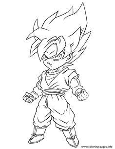 Print Dragon Ball Z Super Saiyan Free Coloring Page Pages