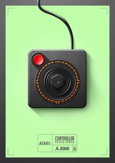Controller Poster Series Created by Quentin Fevre Classic Video Games, Retro Video Games, Video Game Art, Retro Games, Videogames, Deco Gamer, Arte Nerd, 8 Bits, Poster Series