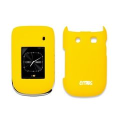 EMPIRE Yellow Rubberized Snap-On Cover Case for Blackberry Style 9670