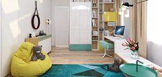 Habitación infantil en estilo moderno y cool - http://www.decoora.com/habitacion-infantil-estilo-moderno-cool/
