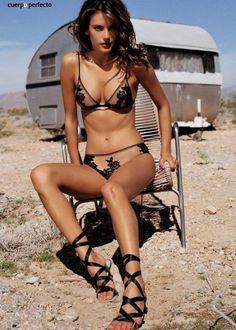 Alessandra Ambrosio lingerie