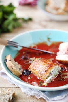 Involtini de dinde � la pancetta et ricotta Ricotta, Good Food, Yummy Food, I Foods, Italian Recipes, Food Inspiration, French Toast, Cooking Recipes, Meat