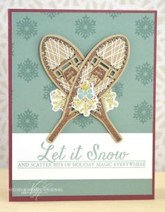 Let It Snow Card by Nichole Heady for Papertrey Ink (September 2013)