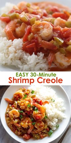 Bring the heart of Louisiana right to your own kitchen with this easy Shrimp Creole recipe that takes just 30 minutes to make all in one pot! Its healthy and packed with flavor from the perfectly cooked shrimp in spicy creole sauce. Louisiana Recipes, Cajun Recipes, Fish Recipes, Seafood Recipes, Shrimp Creole Recipes, Pizza Recipes, Authentic Mexican Recipes, Easy Cooking, Cooking Recipes