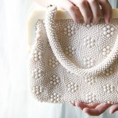 eggshell  vintage purse by whichgoose on Etsy