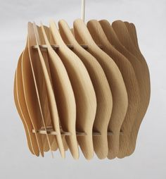 Carl-Axel Acking; Prototype Wood Ceiling Light, 1985.