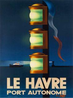 Le-Havre-Port-Autonome-France-French-Vintage-Travel-Advertisement-Poster-Print