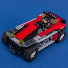LEGO MOC 75894 Red Buggy by Keep On Bricking | Rebrickable - Build with LEGO Lego Moc, Outdoor Power Equipment, Cars, Red, Autos, Car, Automobile, Garden Tools, Trucks