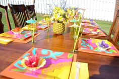 Hawaiian Luau Birthday Party Ideas from Lifesong.com as seen on AmysPartyIdeas.com