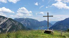 Schöne, leichte und aussichtsreiche Wanderung über den Feilkopf zur Feilalm im Karwendeltal am Achensee. Dauer 500hm und 3h.