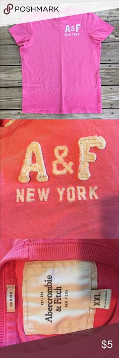 "Abercrombie & Fitch Muscle Tee Pink Abercrombie & Fitch tee. ""Muscle"" fit. Size XXL but looks a little smaller Abercrombie & Fitch Shirts Tees - Short Sleeve"