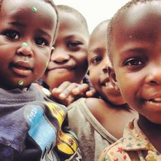 Children in Uganda, Africa. Please look in their eyes and try not to smile