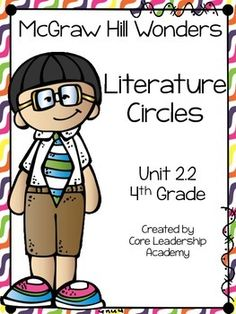 Thinkmark Literature Circle graphic organizer ~ Unit 2.2~There are 4 different levels approaching, on, ell, and advance!  Great for literacy centers! Enjoy!