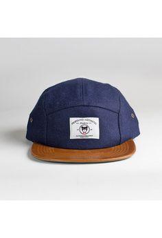 The League Veteran Wool Five Panel Hat in Navy  3a90670d0ecc2