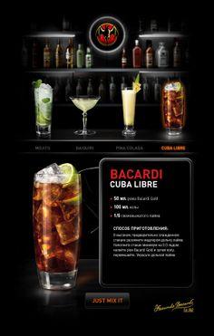 Bacardi Together Mix by Kadasarva , via Behance