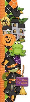 Scrapbooking TammyTags -- TT - Designer - 4 My Babies Scraps,  TT - Item - Border, TT - Style - Cluster, TT - Theme - Halloween