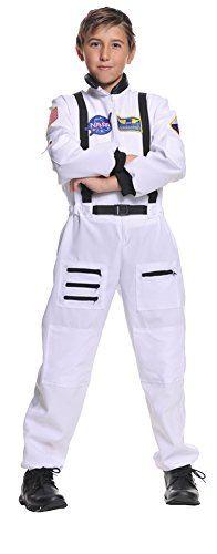Child NASA Space Commander Astronaut Halloween Costume White Flight Jumpsuit S L Boys Astronaut Costume, Astronaut Halloween, Astronaut Suit, Boy Costumes, Halloween Costumes For Kids, Costume Ideas, Trendy Halloween, Pirate Costumes, Christmas Costumes