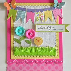 Change the chick to a cupcake or present for a birthday card