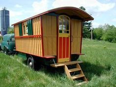Since we have no trees, I want to build a gypsy wagon for my son to use in the backyard in lieu of a treehouse. http://tinyhouseblog.com/page/3/