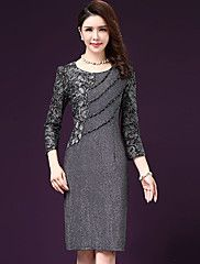 32e47f506f76a   28.99  Women s Plus Size Daily Sheath Dress - Solid Colored Fall Gray  XXXL XXXXL XXXXXL