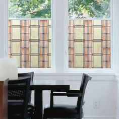 The WallPops Arts & Crafts Stained Glass Window Film is completely do-it-yourself, repositionable, and gives a beautiful new look to any room in your house. Stained Glass Window Film, Window Stickers, Peel And Stick Wallpaper, Wall Decals, Tile Floor, Tiles, Arts And Crafts, Flooring, Interior Design