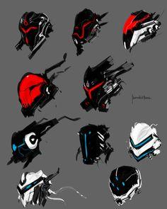 Mech face full armor concept by benedickbana on DeviantArt