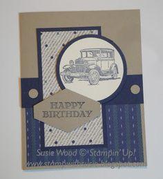 Stamp with Susie: A guy card using True Gentlemen DSP!