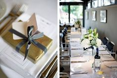 Lovely favour wrapping in gold with funky ribbon Wedding Blog, Wedding Favors, Wedding Ideas, London Bride, Wrapping Ideas, Dresses Uk, Mj, Bristol, I Dress