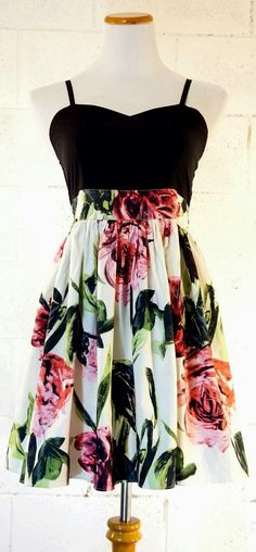 see more Beautiful Flower Patterned Mini Cute Dress, Love It