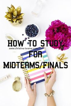 How to Study For Midterms/Finals: Great tips for college students who are preparing for exams and tests. Study tips for success!