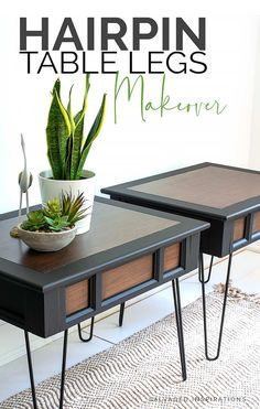 Diy Wooden Projects, Wooden Diy, Furniture Legs, Furniture Makeover, Painted Furniture For Sale, Painting Furniture, Hairpin Table, Hairpin Legs, Ikea Dresser Hack