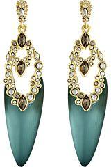Alexis Bittar Crystal Lace Danlin Post Earrings