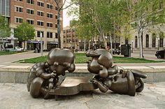 Peanuts statues at Rice Park (St.
