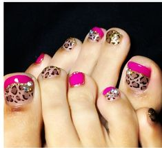 I would just do the big toe and the rest in pink