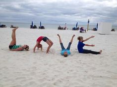 Gulf Shores Alabama!!!! And yes thats us! ;) I will have to get my kids to do this on the beach:)