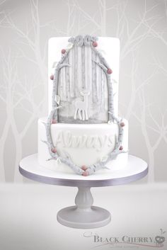 """Or a beautiful Patronus-inspired cake. 