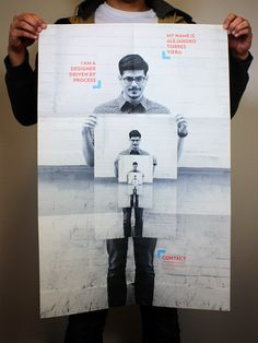 Self-Promotion Poster by Alejandro Torres Viera, via Behance