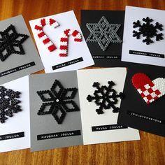 Christmas cards hama beads by vintageinteriorxx