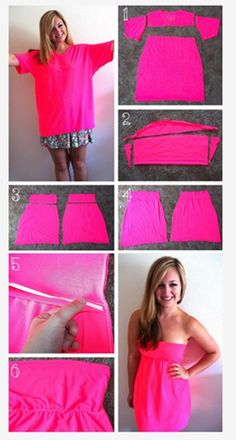 Ideas para renovar tus viejas camisetas divertidas 3b                                                                                                                                                      Más