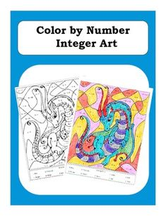 Pre-Algebra: Adding and Subtracting Integers Color by Number