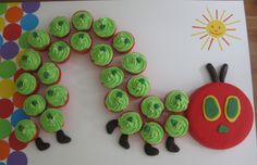 Very Hungry Caterpillar cake - this is awesome.