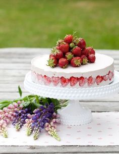 gorgeous frozen strawberry cake
