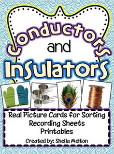 Conductor or Insulator Electricity Sort Cut & Paste definitions ...