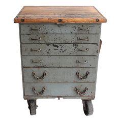 Vintage American Industrial Metal Cabinet
