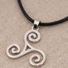 Teen Wolf Spiral Necklace
