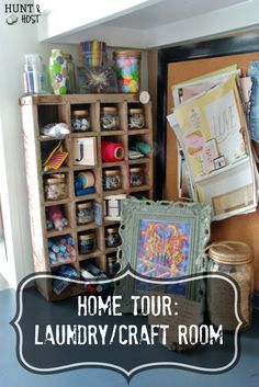 Hunt & Host Home Tour: Laundry Room/Craft Room