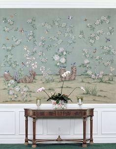 ashford garden hand painted wallpaper mural from paul montgomery