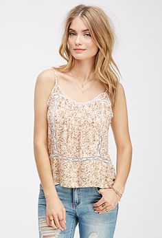 Pintucked Floral Cami | FOREVER21 - 2000062219