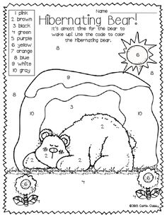 "All About Bears: (have a hibernating day at school). Great activity to do after reading ""When Will it be Spring?"""