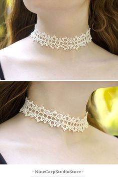 White beaded choker necklace, great idea for Bridesmaid necklace #choker #necklace #bridesmaid